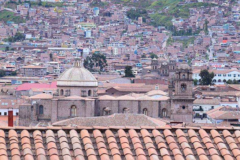 Vista de Cusco do alto de San Blas