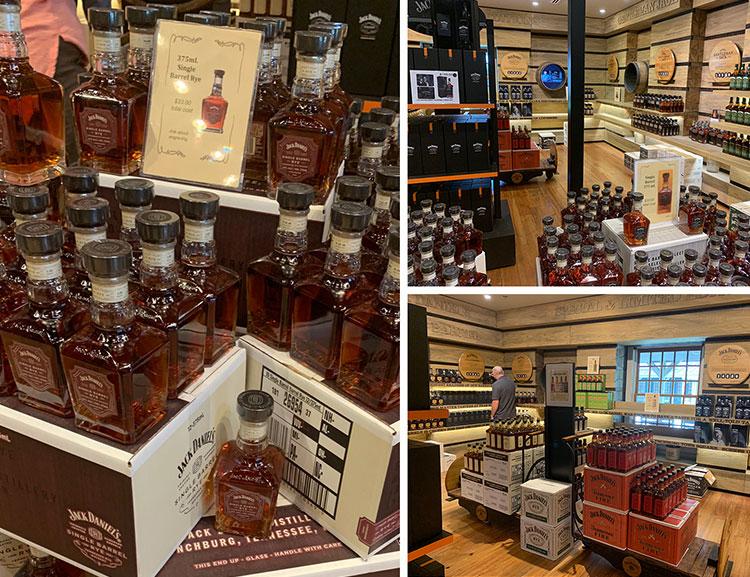 Loja na destilaria Jack Daniel's