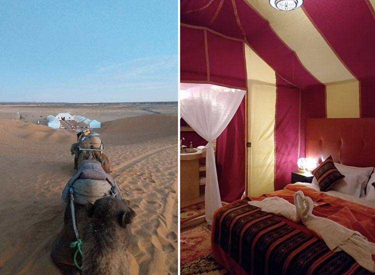 Hotel no deserto do Marrocos