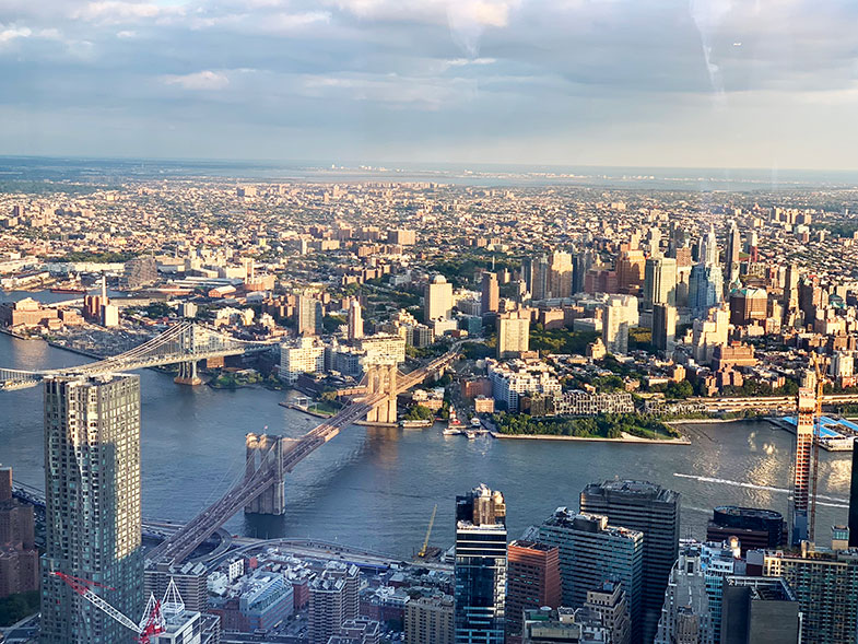 New York do alto do One World Observatory