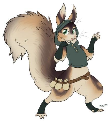 Katauni, o fursona em que me inspirei para fazer o Minky