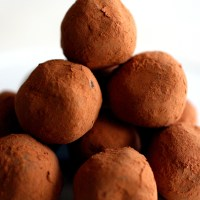 Cardamom Flavored Chocolate Truffles