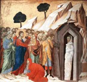 Resultado de imagem para imagem da ressurreição de lázaro - em site católico