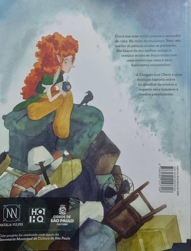 A Casa da Lua Cheia - Natália Vulpes - Quadrinho Independente - Canto do Gárgula