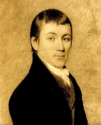 Imagem em sépia de Charles Brockden Brown