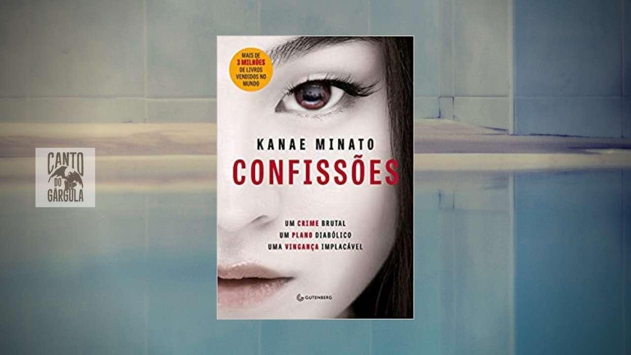 Capa do livro Confissões de Kanae Minato. Ao fundo uma borda de piscina.