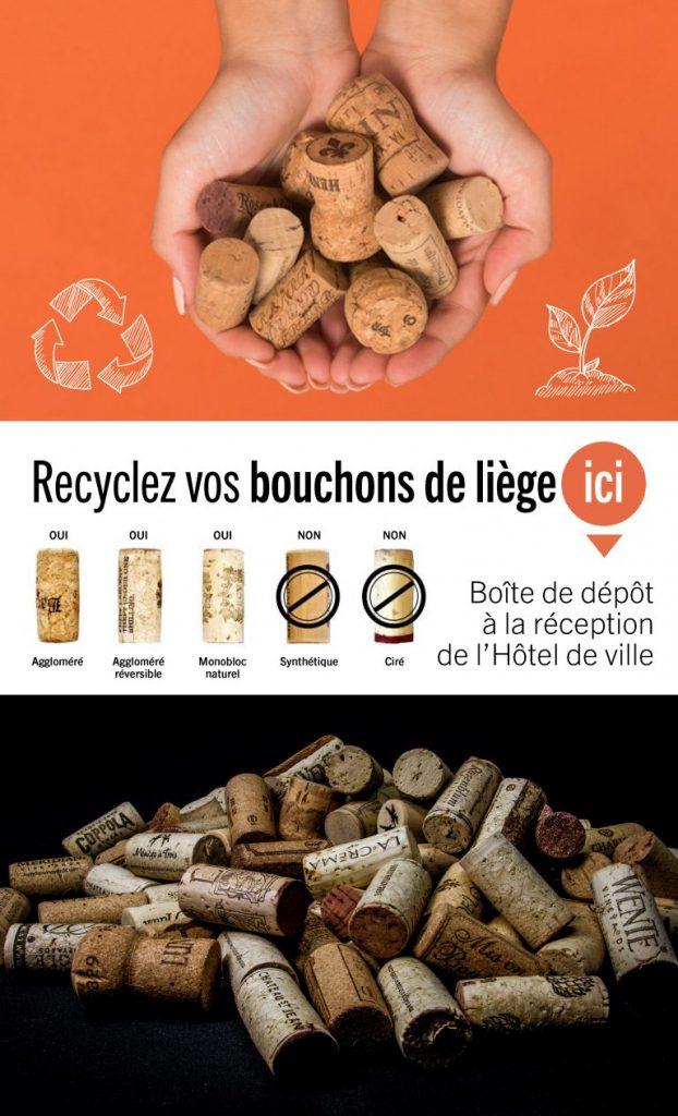 recyclage des bouchons de liege