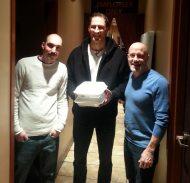 Hartford-Funny-Bone-with-Tom-Daddario,-Ben-Bailey-and-his-to-go-food