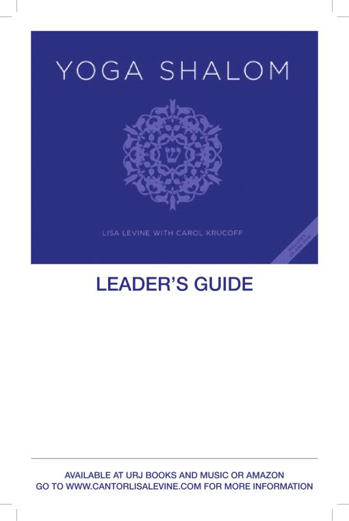 Yoga Shalom Leaders Guide