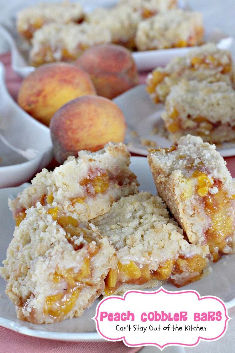 Peach Pie Bars Cant Stay Out Of The Kitchen