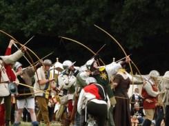 Archers, long bow men, fire.