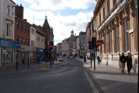 I love this early morning view of Granby Street. When the sun hits the ornate architecture and the walls seem to shimmer. In the distance is the Grand Hotel. Granby Street as it is today was formed in the 18th and 19th centuries and used to run from the Grand Hotel at Belvoir Street (pronounced 'Beaver', don't ask) to opposite the train station on London Road. This end was still considered part of Gallowtree Gate, which got its name for obvious reasons, and which used to run along what is now Granby Street toward the Gallowtree on London Road opposite the Victoria Park Gates.