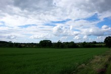 The next village over is just visible in the distance, as the sky takes on a more interesting aspect.