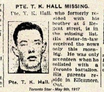 Toronto Star - One Month after Vimy