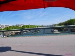 Crossing the Seine on Pont du l'Alma