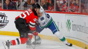 c0d919dc5 Vancouver Canucks at New Jersey Devils Post-Game Recap  New Year s In New  Jersey