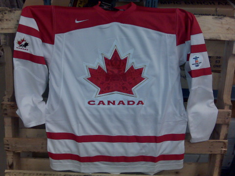 2010 Team Canada white jersey