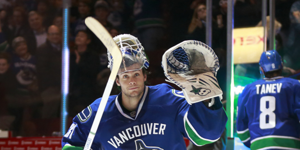 The Luongo-less Canucks are starting Eddie Lack tonight in Calgary, letting Lu recover from an undisclosed injury suffered last Sunday against the Jets. (photo credit: vansunsportsblogs.com)