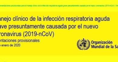 , Coronavirus (2019nCoV)  Manejo Clínico de esta infección  por la Organización Mundial de la Salud, Cañuelas Noticias de Argentina
