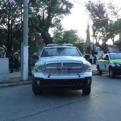 GEDC0879 Cañuelas Coronavirus COVID-19 mega operativo de desinfección con la Policía Ecológica y Bomberos de la Provincia de Buenos Aires.