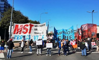MST Teresa Vive:  Gran movilización del MST Teresa Vive y organizaciones sociales