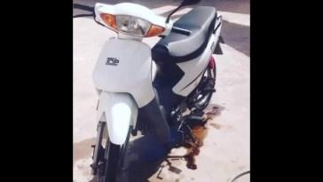 Cañuelas: robaron una moto en la puerta de la casa, la dueña necesita de vuestra colaboración.