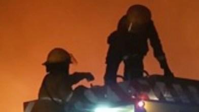 Cañuelas: incendio en un comedor de una vivienda en calle Sarmiento al 1700