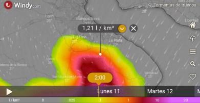 Cañuelas, Alerta meteorologíca por tormentas fuertes, y a oscuras por la falta de mantenimiento de EDESUR.