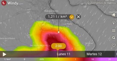 , Cañuelas, Alerta meteorologíca por tormentas fuertes, y a oscuras por la falta de mantenimiento de EDESUR., Cañuelas Noticias de Argentina