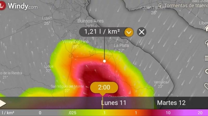 , Cañuelas, Alerta meteorologíca por tormentas fuertes, y a oscuras por la falta de mantenimiento de EDESUR., Cañuelas Noticias