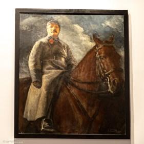 Vladímir Grinberg. M.V. Frunze a caballo.