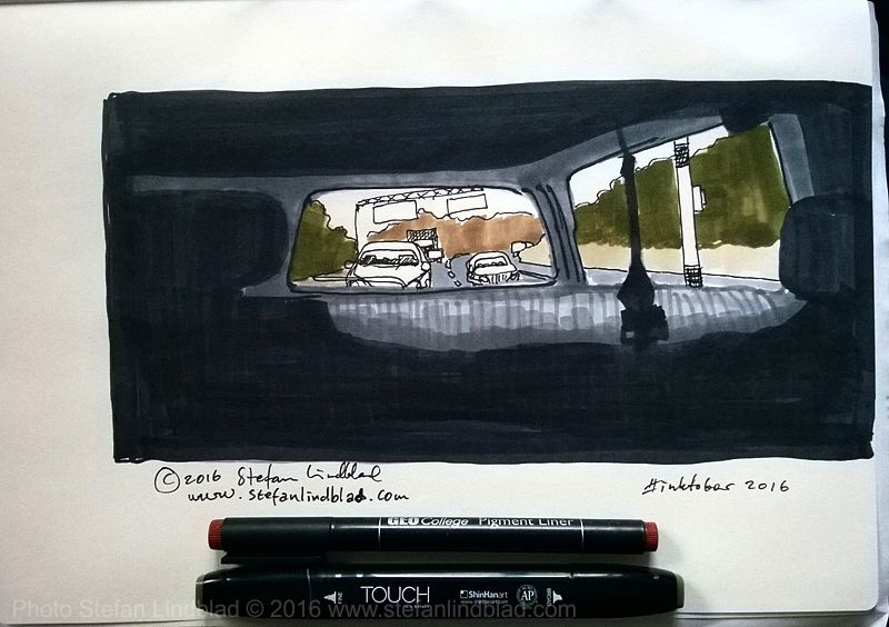 Stefan-Lindblad-Drawing-illustration-on-paper-inside_car-2016