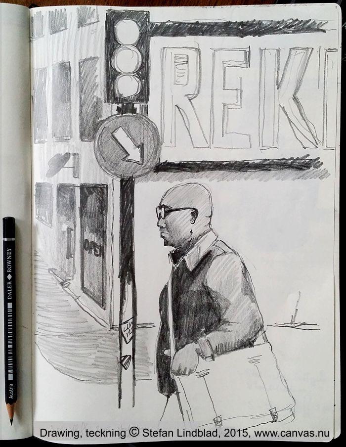 Illustratör Stefan Lindblad, teckning, markers, pennor, blyerts