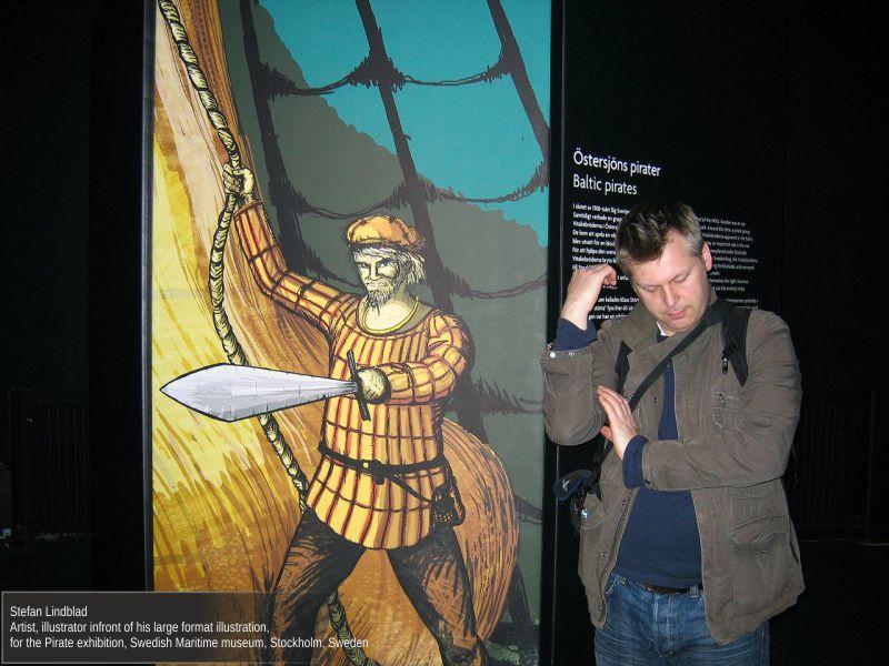 Vem är pirat, Sjöhistoriska museet, Illustratör Stefan Lindblad