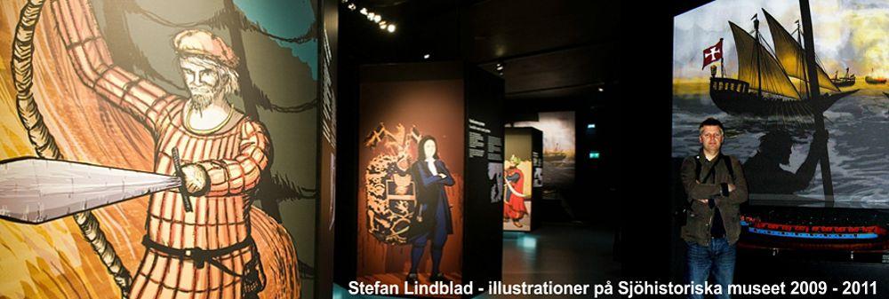 Vem är pirat, utställningen, Sjöhistoriska museet, illustratoner, konst, bilder, av Stefan Lindblad