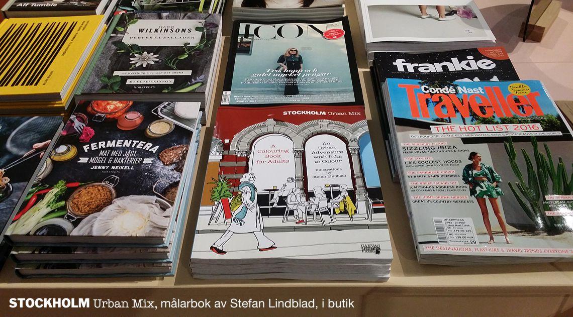 Snickarbacken7, återförsäljare, Stockholm Urban mix, Stefan Lindblad, Målarbok för vuxna
