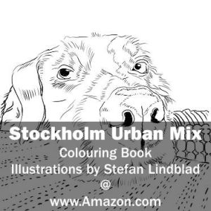 Stefan Lindblad, illustration, Illustratör, Illustration, teckningar, drawings, Corlouring, Coloring Book, Stockholm Urban Mix, Hund, Dog