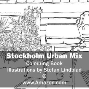 Stefan Lindblad, illustration, Illustratör, Illustration, teckningar, drawings, Corlouring, Coloring Book, Stockholm Urban Mix