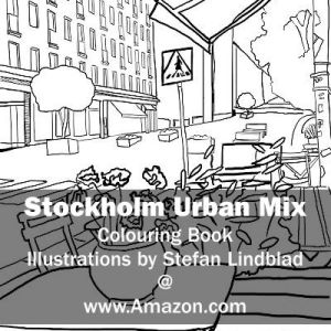 Stefan Lindblad, illustration, Illustratör, Illustration, teckningar, drawings, Corlouring, Coloring Book, Stockholm Urban Mix, Södermalm, Nytorget, Uteservering