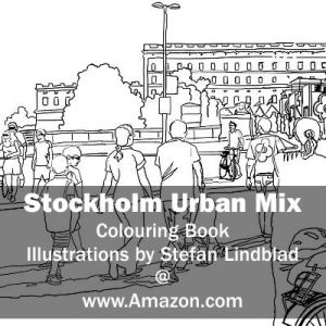 Stefan Lindblad, illustration, Illustratör, Illustration, teckningar, drawings, Corlouring, Coloring Book, Stockholm Urban Mix, Slott, Slottet, Gustav Adolfs Torg