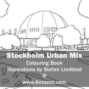 Stefan Lindblad, illustration, Illustratör, Illustration, teckningar, drawings, Corlouring, Coloring Book, Stockholm Urban Mix, globen