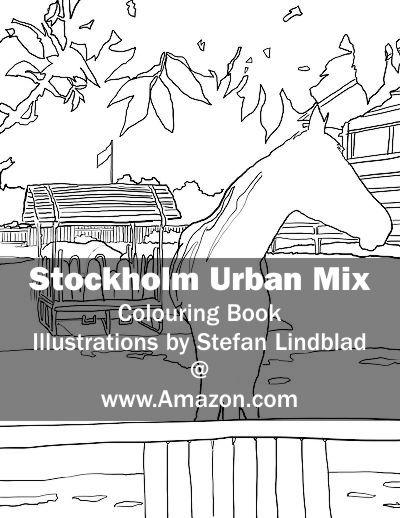 Stefan Lindblad, illustration, Illustratör, Illustration, teckningar, drawings, Corlouring, Coloring Book, Stockholm Urban Mix, Enskede Gård, Ridskola, Häst