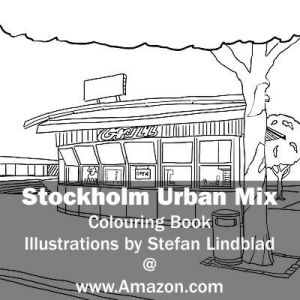 Stefan Lindblad, illustration, Illustratör, Illustration, teckningar, drawings, Corlouring, Coloring Book, Stockholm Urban Mix, Medborgarplatsen, korvmoj, korvkiosk, Medis