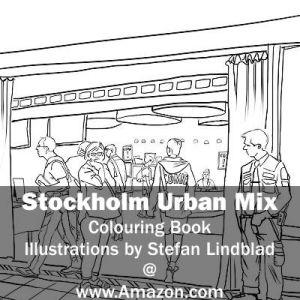 Stefan Lindblad, illustration, Illustratör, Illustration, teckningar, drawings, Corlouring, Coloring Book, Stockholm Urban Mix, seriefestivalen, kulturhuset