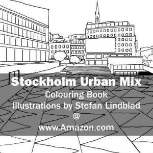 Illustratör, Stefan Lindblad, illustration Illustratör, Illustration, teckningar, drawings, Corlouring, Coloring Book, Stockholm Urban Mix, Sergelstorg
