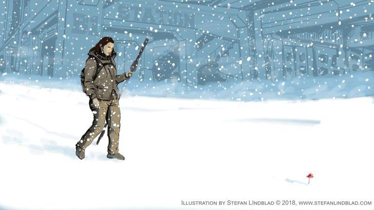 Ny digital illustration, teckningen Mia the Explorer