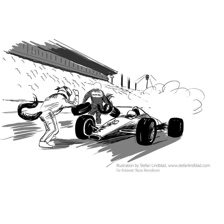 Teckning till Rizzo Racerförare