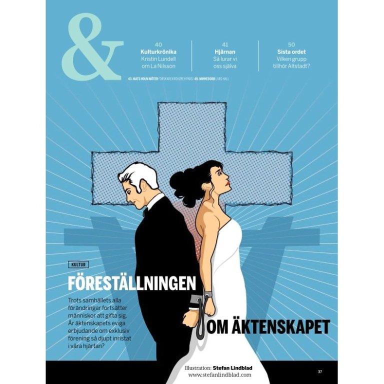 Illustration till FOKUS nyhetsmagasin: föreställningen om äktenskapet