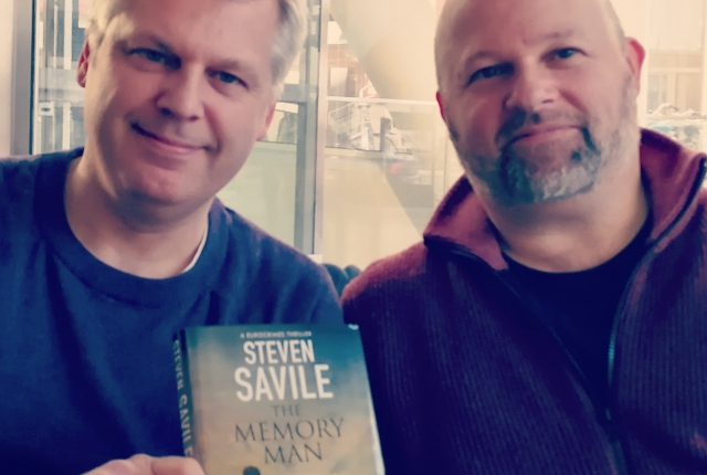 Met up with my buddy, Steven Savile, he's new book The Memory Man