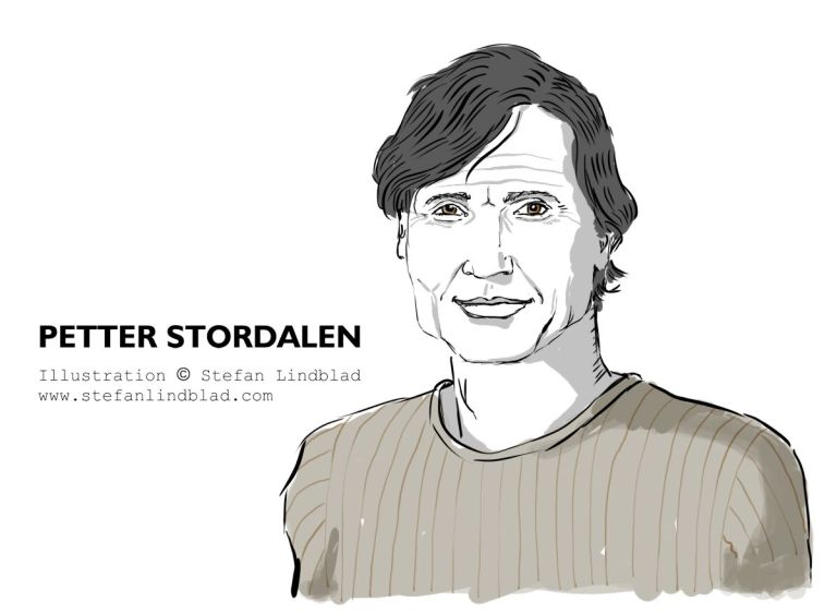 Illustration porträtt på Petter Stordalen för HR People magasin